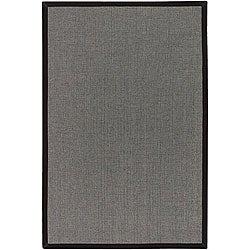 Artist's Loom Hand-woven Casual Border Rug (5' x 7'6) - Thumbnail 0