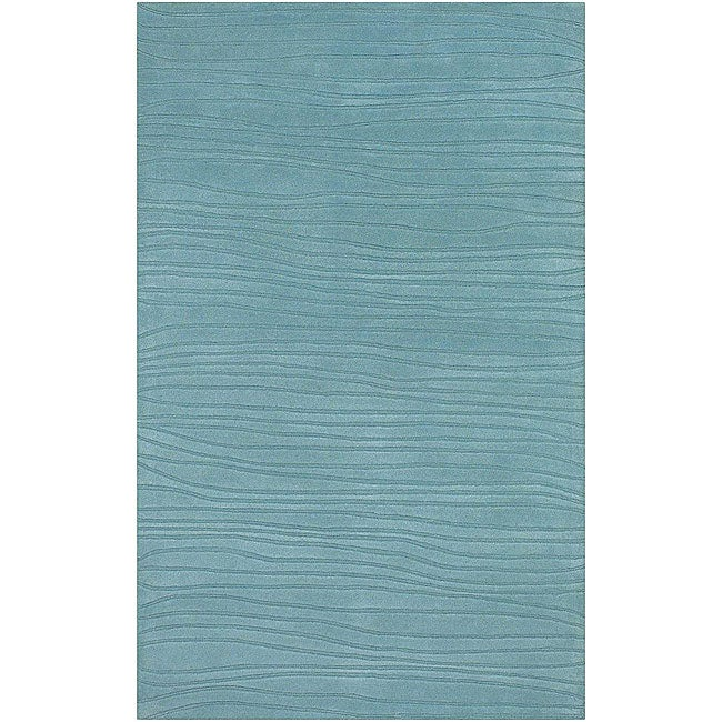 """Artist's Loom Hand-tufted Contemporary Solid Wool Rug - 5' x 7'6"""""""