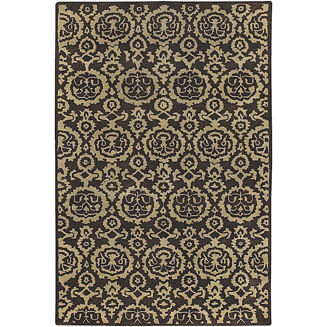Artist's Loom Hand-tufted Contemporary Abstract Wool Rug - 7'9 x 10'6