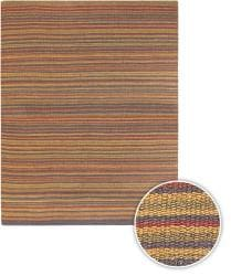 Artist's Loom Hand-woven Casual Stripes Natural Eco-friendly Jute Rug (5'x7'6) - Thumbnail 1
