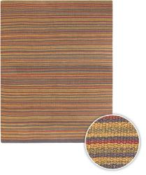 Artist's Loom Hand-woven Casual Stripes Natural Eco-friendly Jute Rug (5'x7'6) - Thumbnail 2