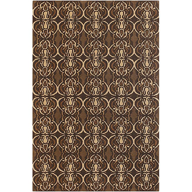 Artist's Loom Hand-tufted Contemporary Abstract Wool Rug (5'x7'6) - 5' x 7'6