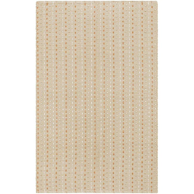 Artist's Loom Hand-woven Contemporary Geometric Rug - 5'6 x 7'9