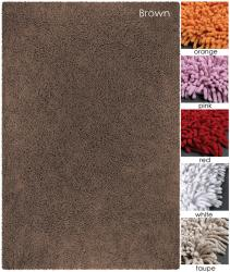 Artist's Loom Hand-woven Natural Eco-friendly Cotton Shag Rug (4' Round)