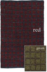 Artist's Loom Hand-woven Contemporary Geometric Natural Eco-friendly Fiber Rug (7'9 x 10'6) - Thumbnail 1