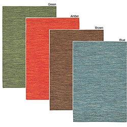 Thumbnail 1, Artist's Loom Handmade Flatweave Casual Reversible Natural Eco-friendly Cotton Rug (7'9x10'6) - 7'9 x 10'6.