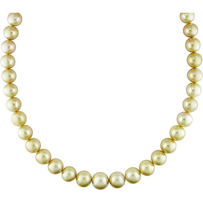 Miadora 14k Gold South Sea Pearl and Diamond Necklace (10-14 mm)