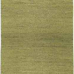 Hand-woven Green Natural Fiber Jute Braided Texture Priam Rug (5' x 8') - Thumbnail 1