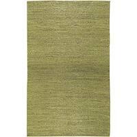 Hand-woven Green Natural Fiber Jute Braided Texture Priam Rug (5' x 8')
