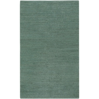 Hand-woven Seafoam Natural Fiber Jute Braided Texture Priam Area Rug - 5' x 8'