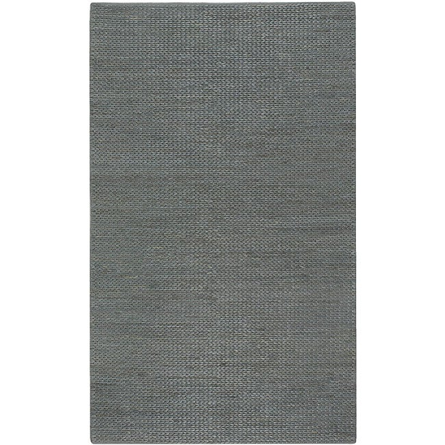 Hand-woven Seafoam Natural Fiber Jute Braided Texture Priam Area Rug (5' x 8')
