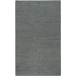 Hand-woven Seafoam Natural Fiber Jute Braided Texture Priam Area Rug (5' x 8') - Thumbnail 0