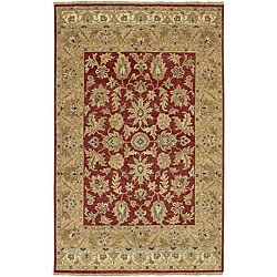 Hand-knotted Timeless New Zealand Hard Twist Wool Area Rug (2'6 x 10') - Thumbnail 0