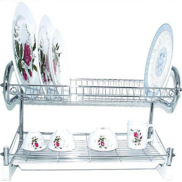 Kitchen World 22-inch High-quality Chrome Dish Rack