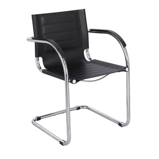 Genial Safco Flaunt Black Leather Guest Chair