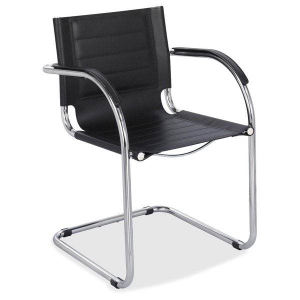 Safco Flaunt Black Leather Guest Chair
