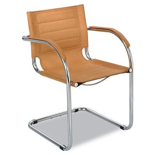 Safco Flaunt Camel Microfiber Guest Chair