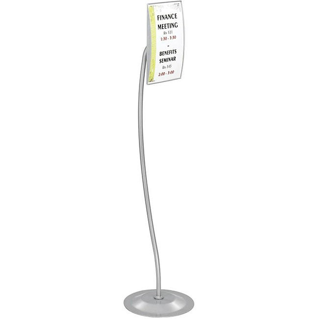 Safco Customizable Rectangular Sign on Stand