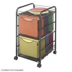 Safco Onyx Mesh Mobile Double File Cart - Thumbnail 2
