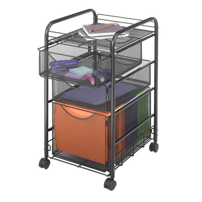 Safco Onyx Mesh Drawer File Cart