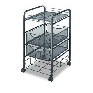 Safco Onyx Mesh 4-drawer File Cart