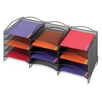 Safco 12-compartment Onyx Mesh Literature Organizer