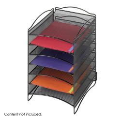 Safco Onyx 6-compartment Mesh Literature Organizer