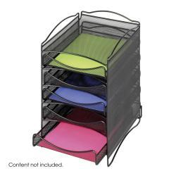 Safco Onyx 5-drawer Mesh Literature Organizer - Thumbnail 2