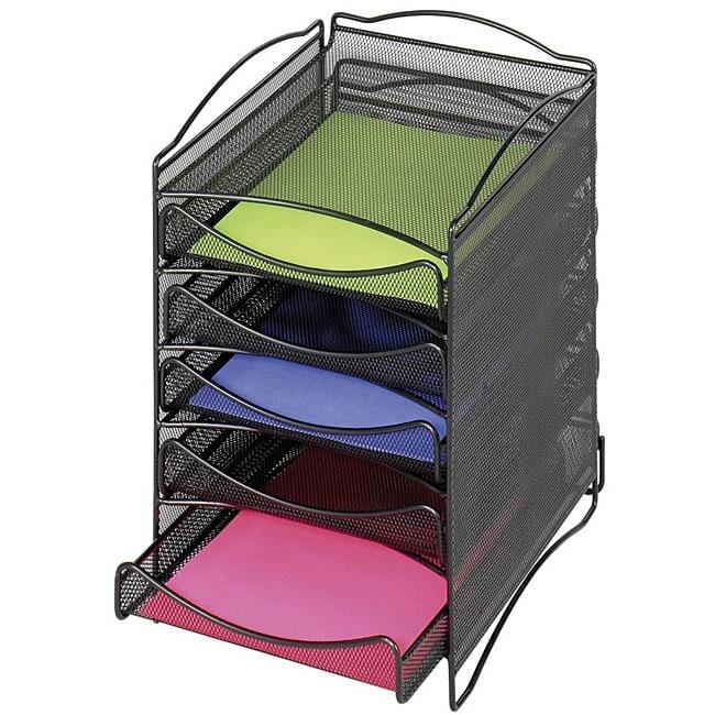 Safco Onyx 5-drawer Mesh Literature Organizer
