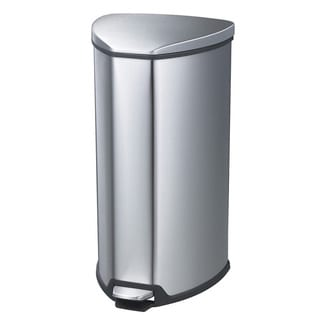 Safco 4-gallon Step-on Stainless Trash Can