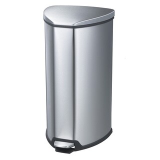 Safco 7-gallon Step-On Stainless Trash Can