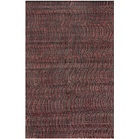 Hand-knotted Tan Abstract Design Wool Area Rug - 2'6 x 10'