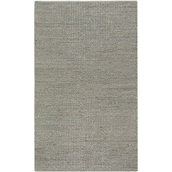 Hand-woven Grey Natural Fiber Jute Braided Texture Priam Rug (5' x 8')