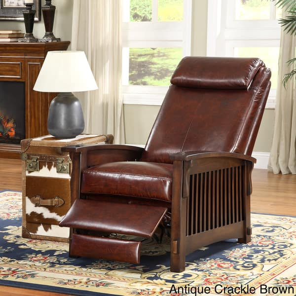 Stupendous Shop Chelsea Leather Recliner Chair Free Shipping Today Pdpeps Interior Chair Design Pdpepsorg