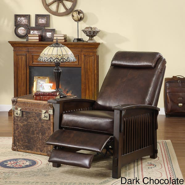 Terrific Shop Chelsea Leather Recliner Chair Free Shipping Today Pdpeps Interior Chair Design Pdpepsorg