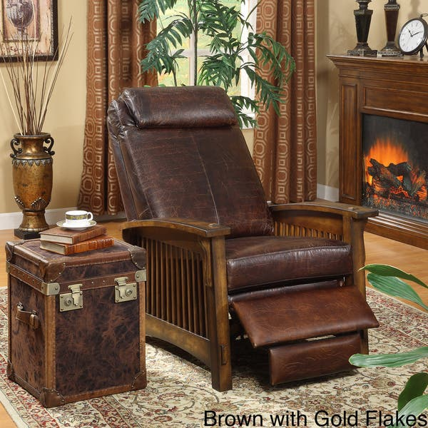 Marvelous Shop Chelsea Leather Recliner Chair Free Shipping Today Pdpeps Interior Chair Design Pdpepsorg