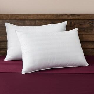 SwissLux Comfort Curve Cotton Cover Foam Center Memory Loft Pillows (Set of 2)