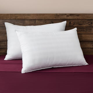 SwissLux Comfort Curve Cotton Cover Foam Center Memory Loft Pillows (Set of 2)