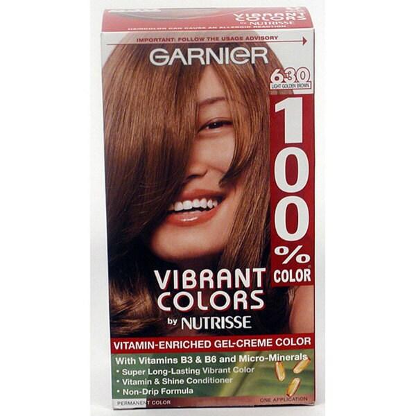 Garnier Vibrant Colors #630 Light Golden Brown Hair Color (Pack of 4)