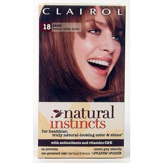 Clairol Natural Instincts #18 Pecan Hair Color (Pack of 4)