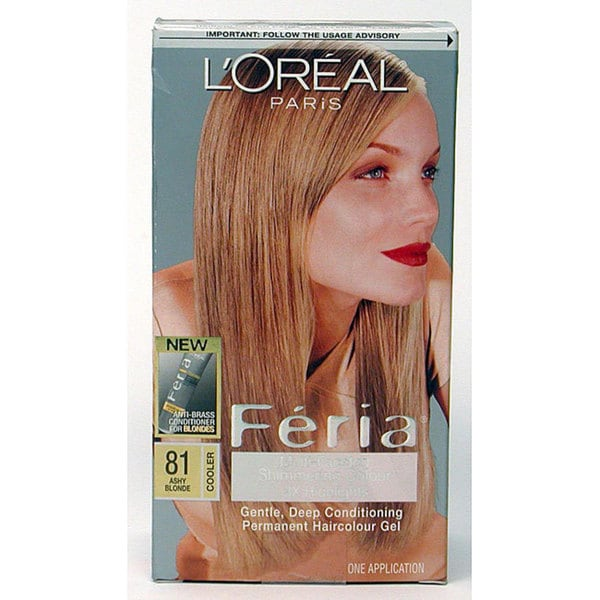 L'Oreal Feria #81 Cool Blonde Hair Color (Pack of 3)