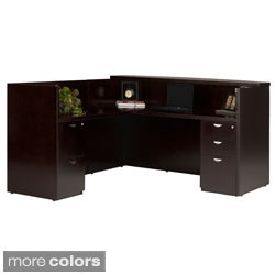 Mayline Mira Wood Veneer Reception Desk with Return