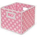 Pink Polka Dot Folding Storage Baskets (Pack of 3)
