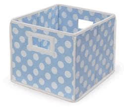 Blue Polka Dot Folding Storage Baskets (Pack of 3) - Thumbnail 1