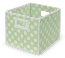 Sage Polka Dot Folding Storage Baskets (Pack of 3)