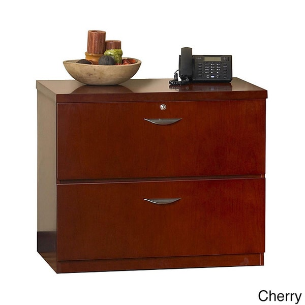 Mayline Mira Wood Veneer Freestanding 2-drawer Lateral File