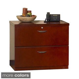 Mayline Mira Wood Veneer Freestanding 2-drawer Lateral File