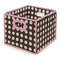 Brown Polka Dot Folding Storage Baskets (Pack of 3)