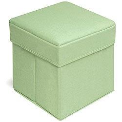 Badger Basket Sage Folding Storage Seats (Pack of 2)