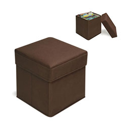 Badger Basket Brown Folding Storage Seats (Pack of 2)